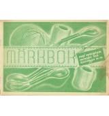 Märkbok med monogram mönster och korsstygn m.m.